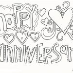 Happy Anniversary Coloring Pages - Coloring book