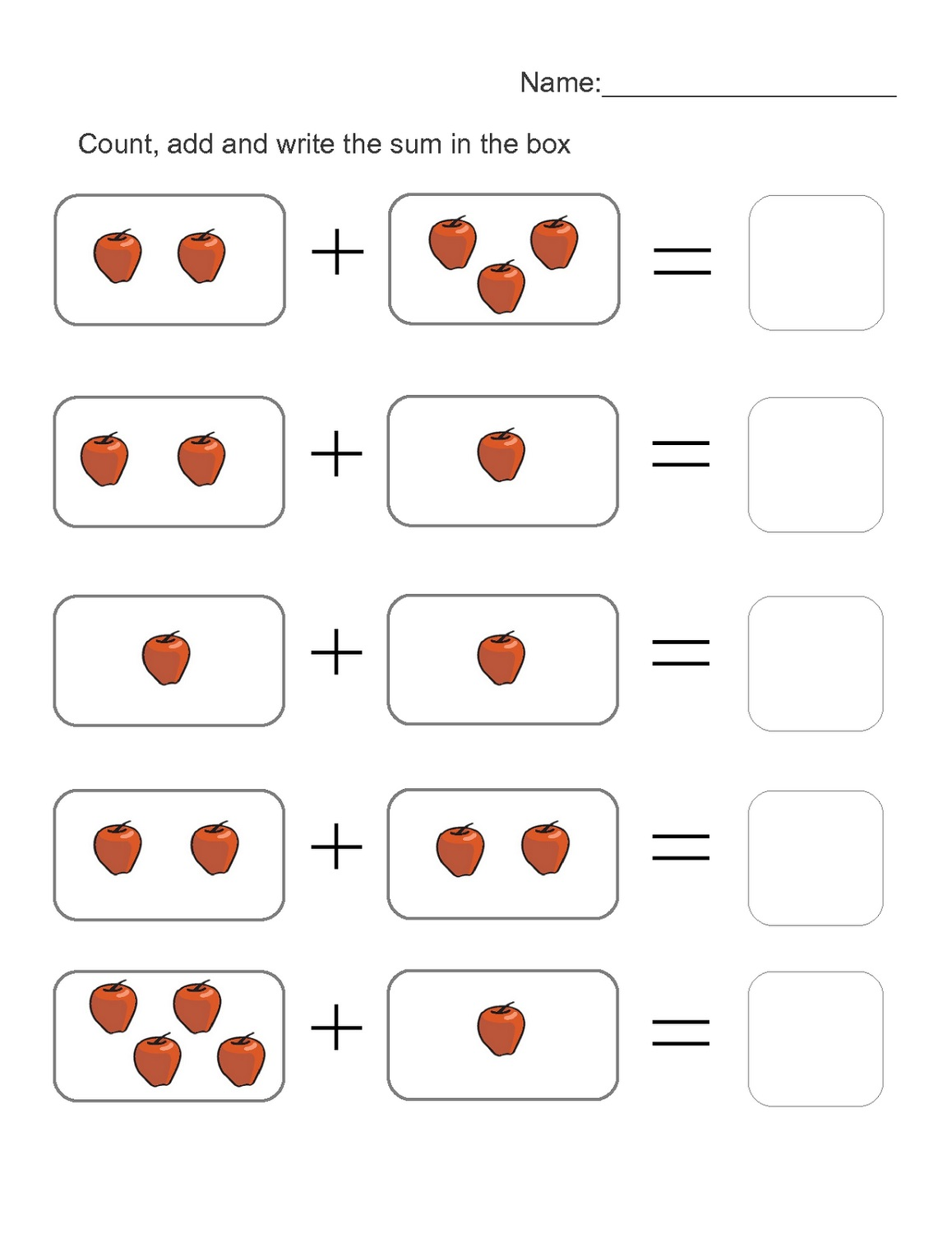4 year old worksheets for kids
