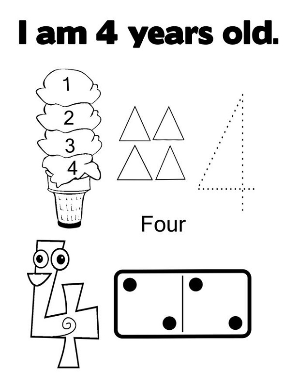 4 year old worksheets for preschool