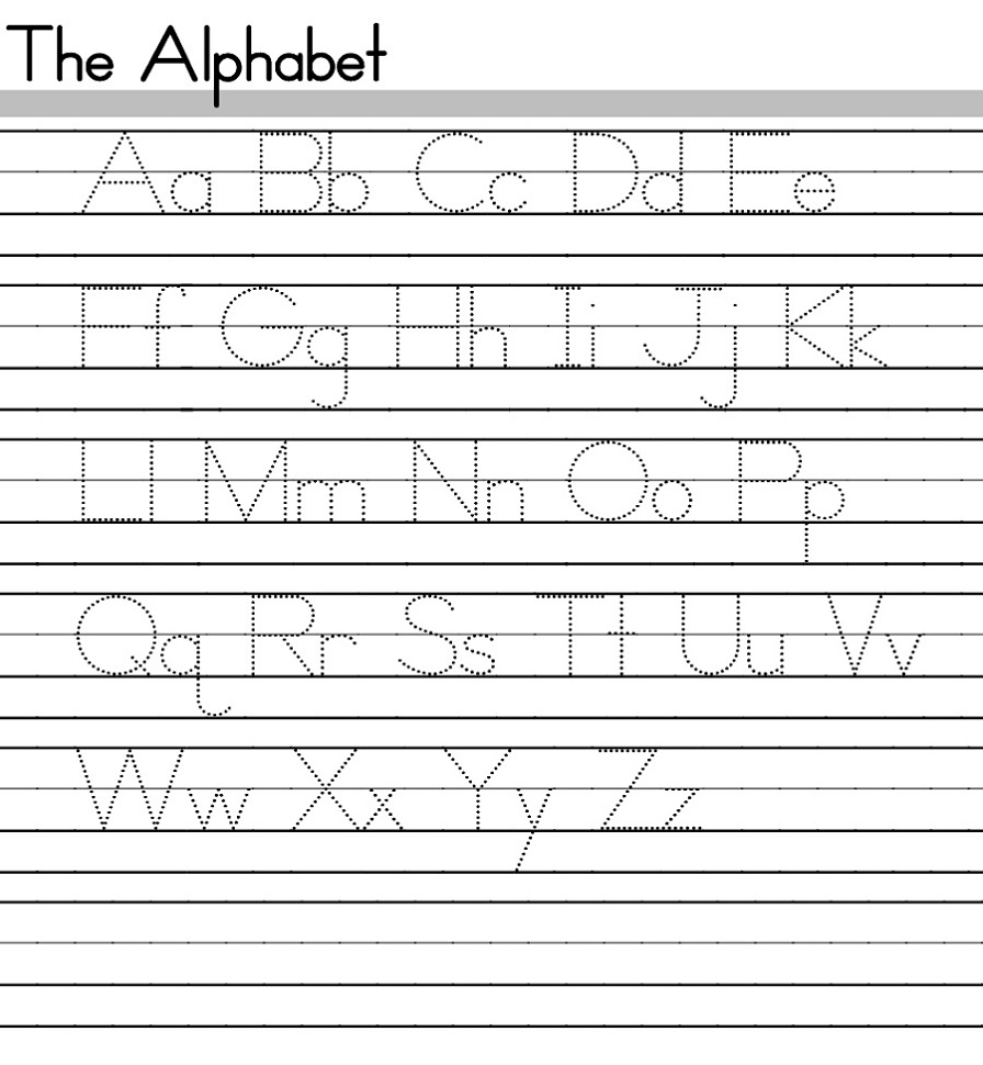 abc tracing sheets easy
