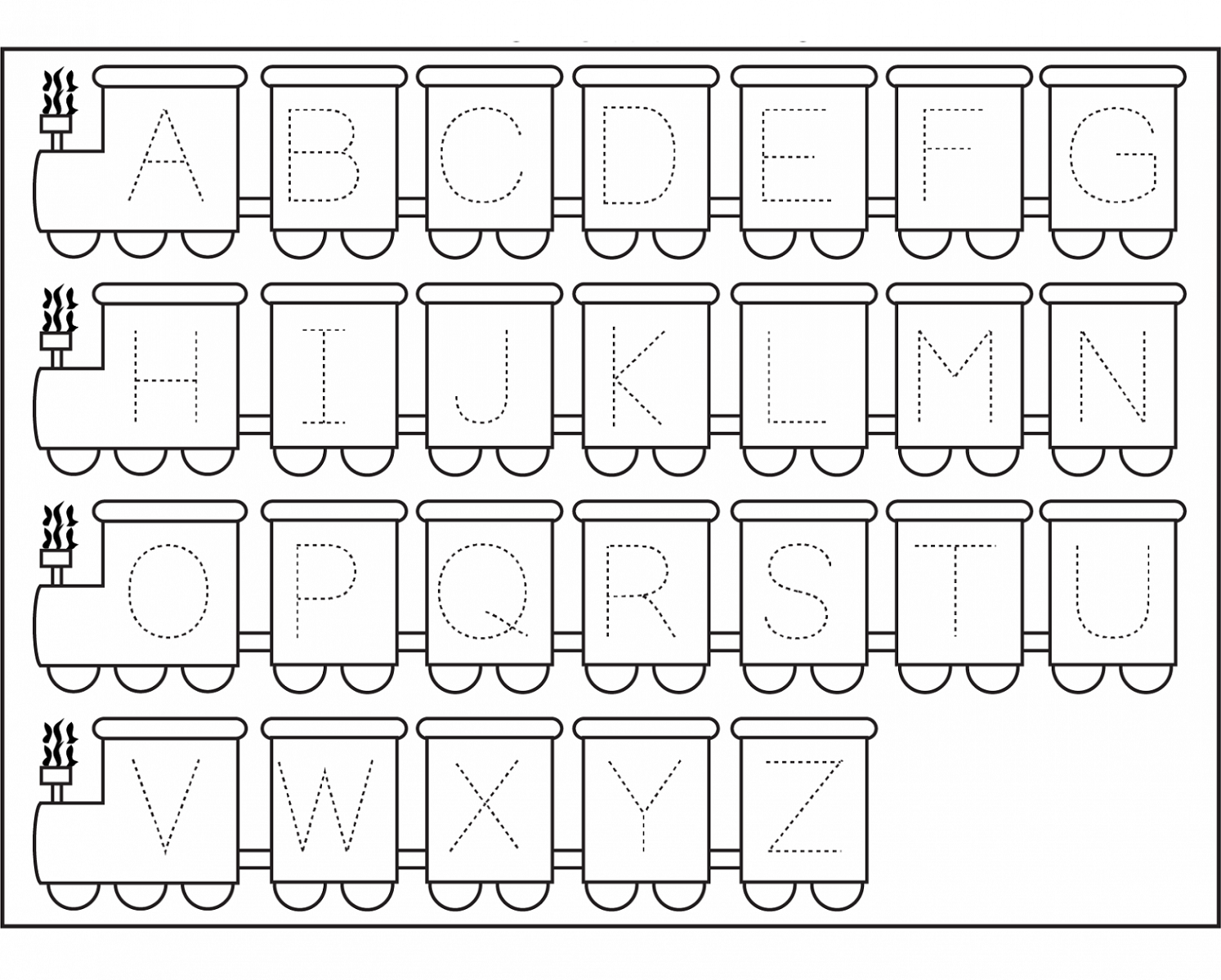 abc tracing sheets for school