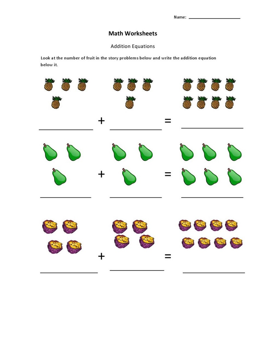 addition worksheets with pictures printables