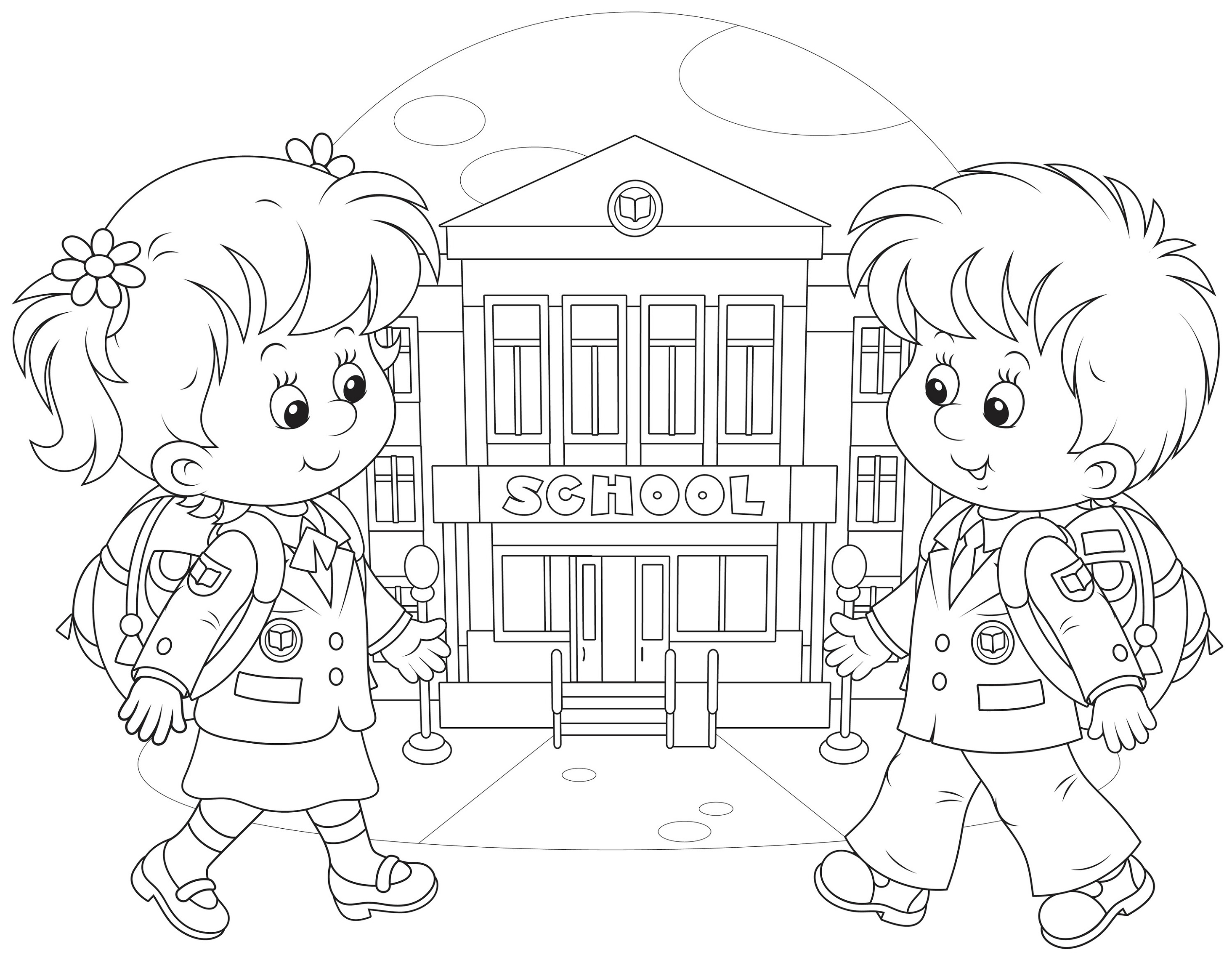 coloring pages for school