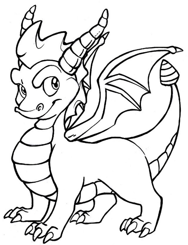 dragon coloring pages for kindergarten