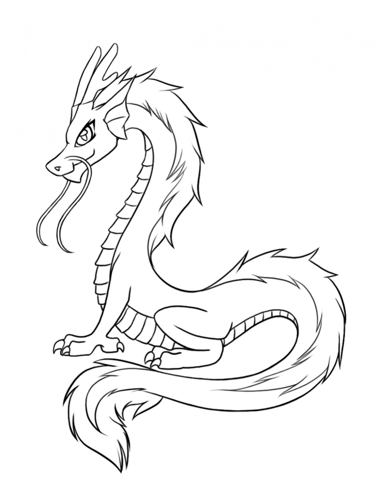 dragon coloring pages fun