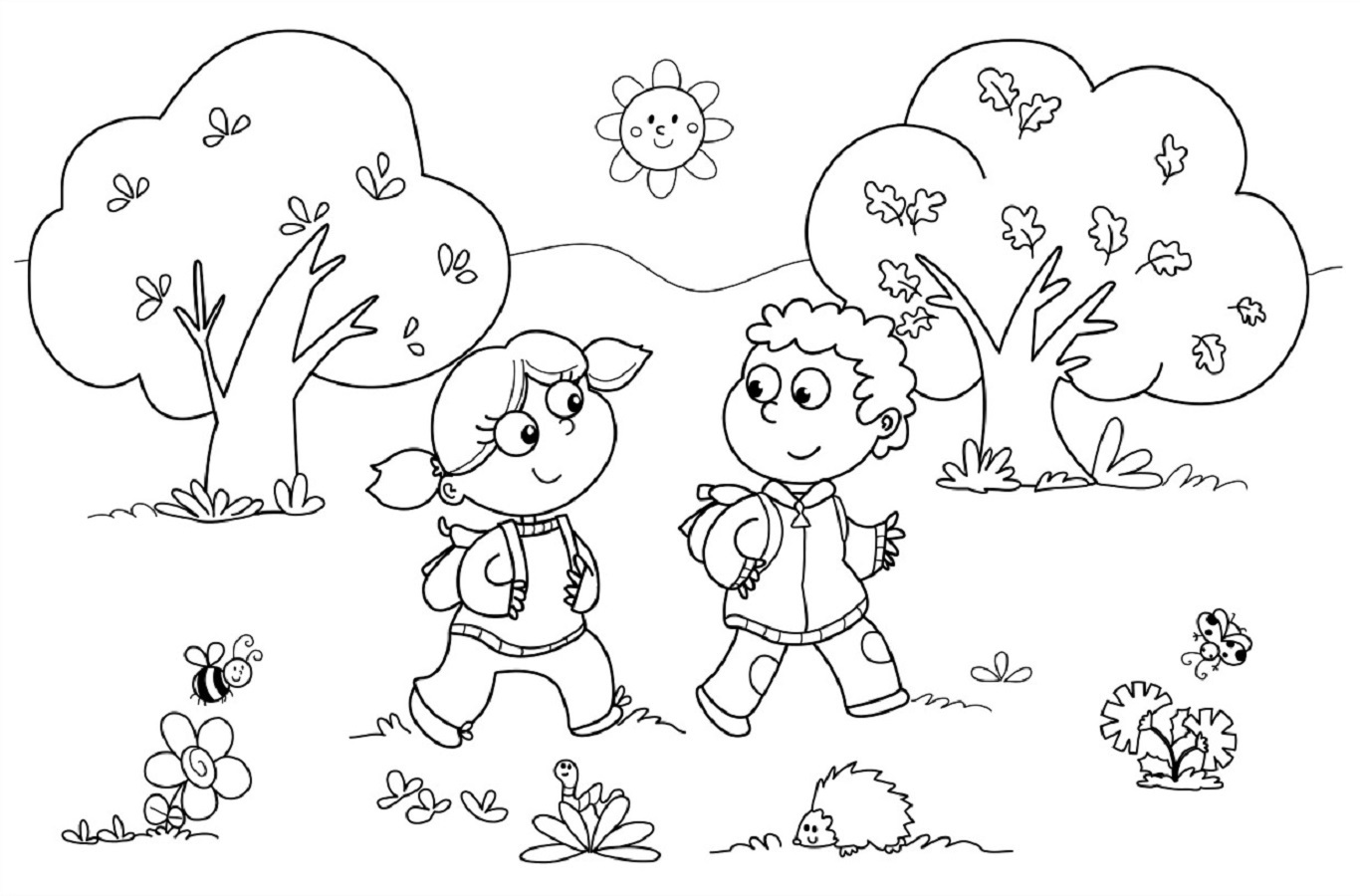 Fall Coloring Pages - Worksheet