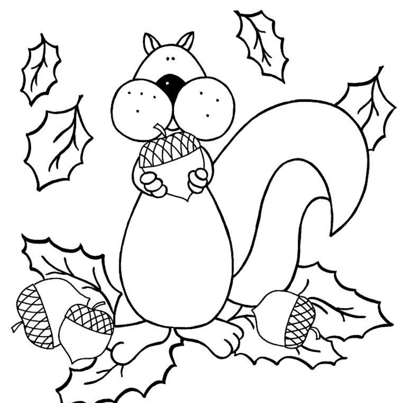 fall coloring pages fun