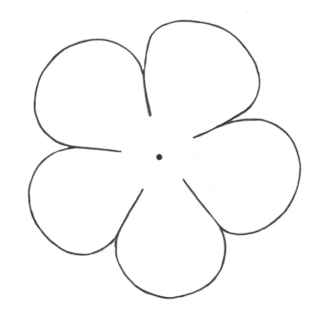 flower template easy