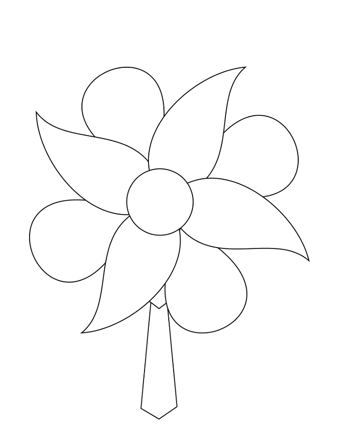 flower template kids