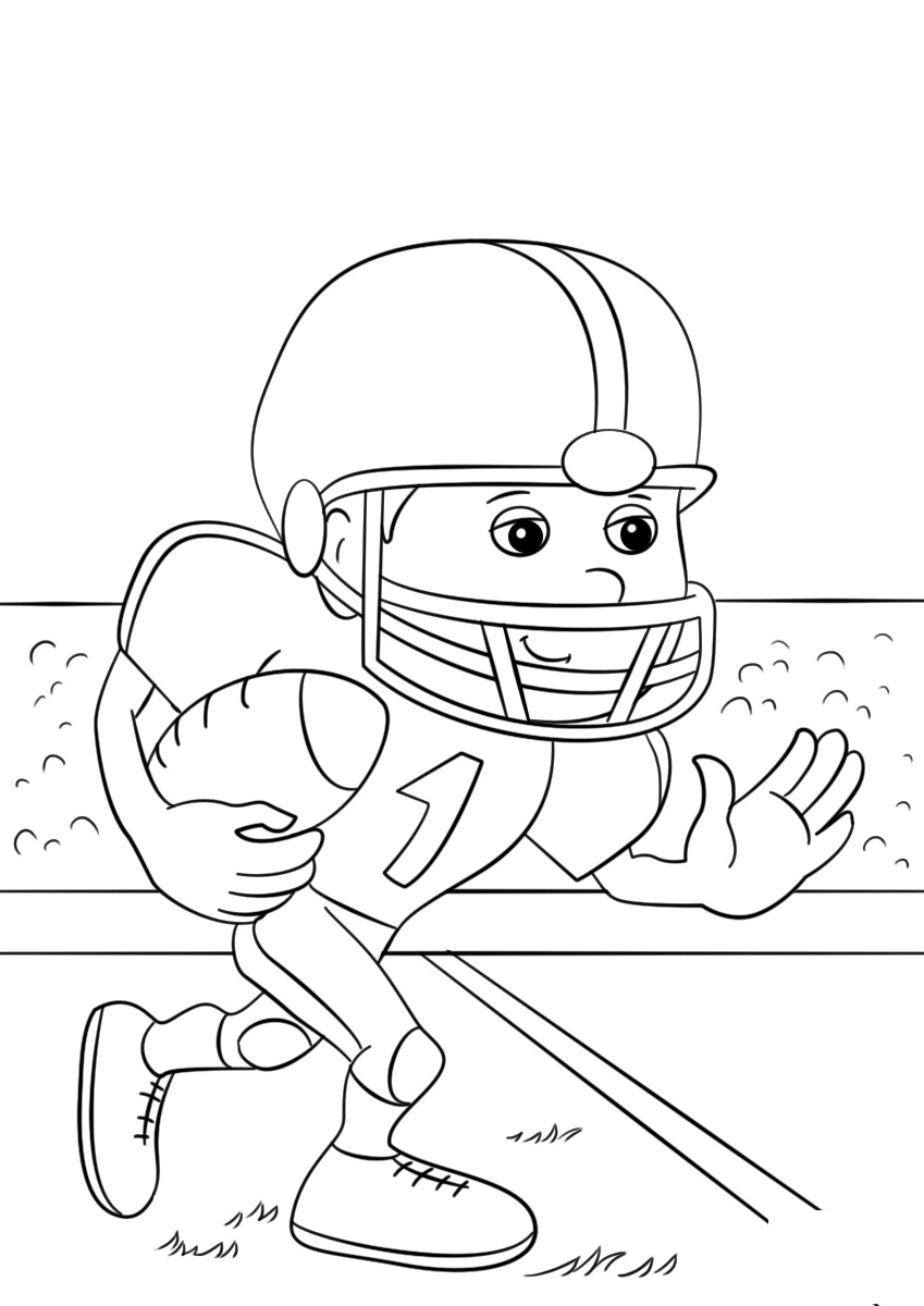 football coloring pages for kindergarten