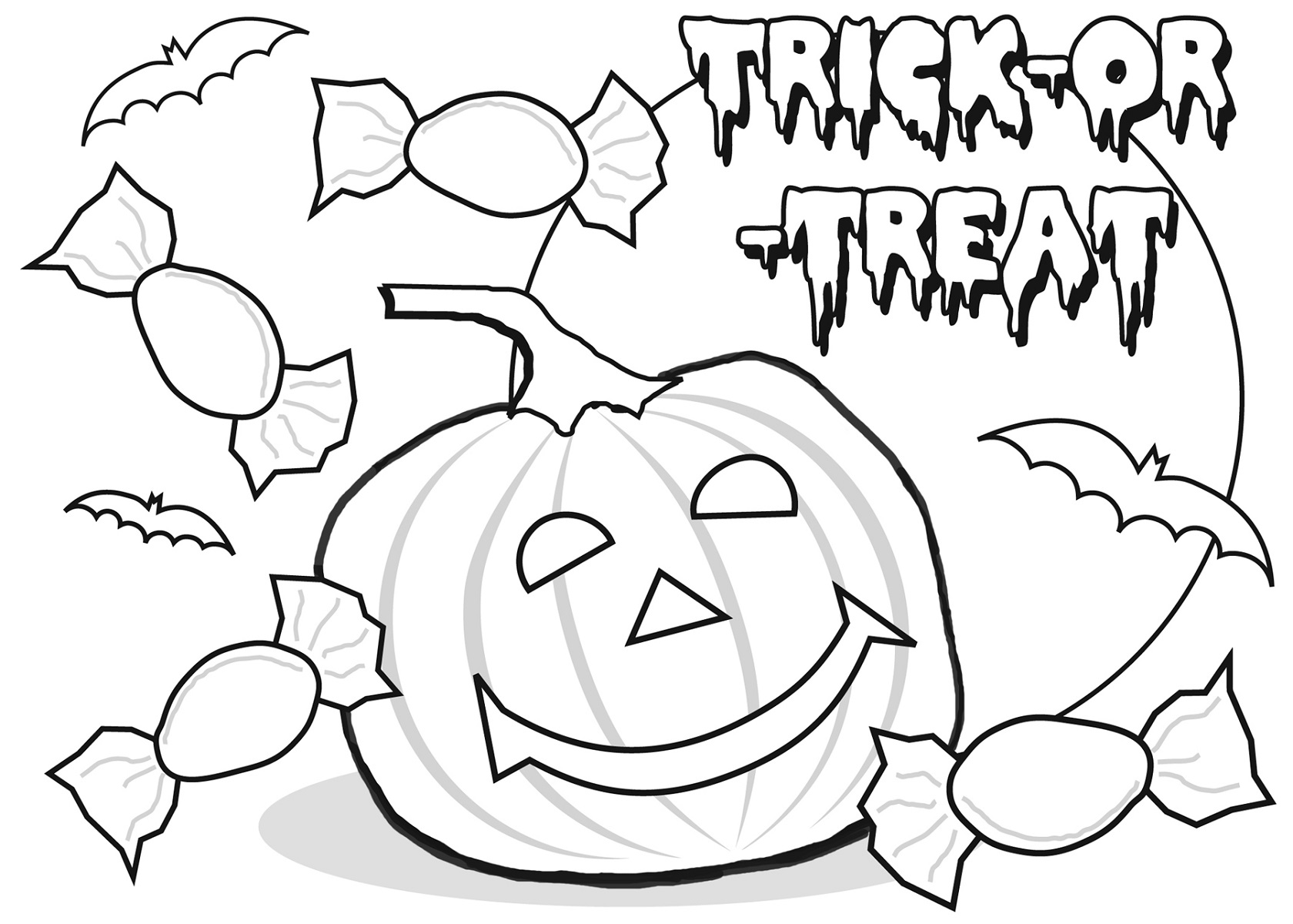 halloween printable coloring pages for school