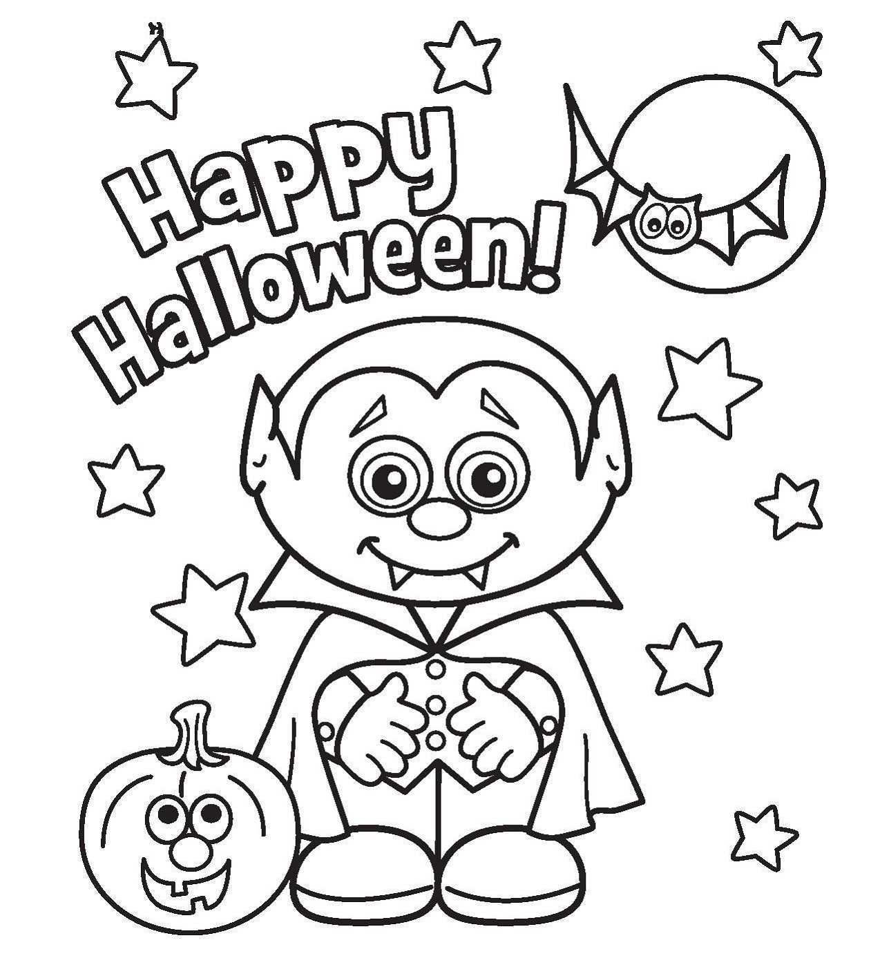 halloween printable coloring pages free