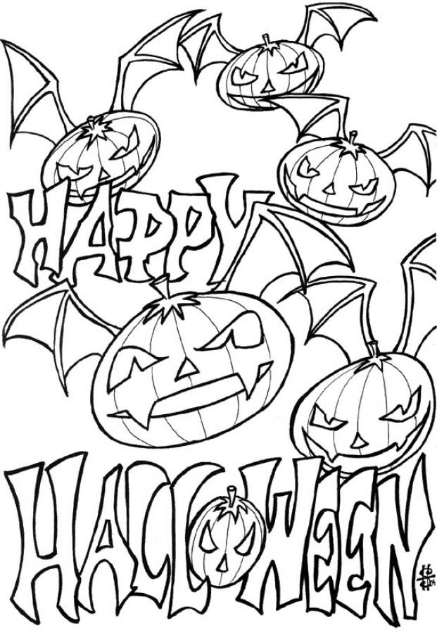 halloween printable coloring pages printable