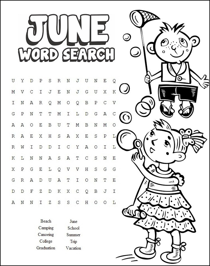 kids word search for school