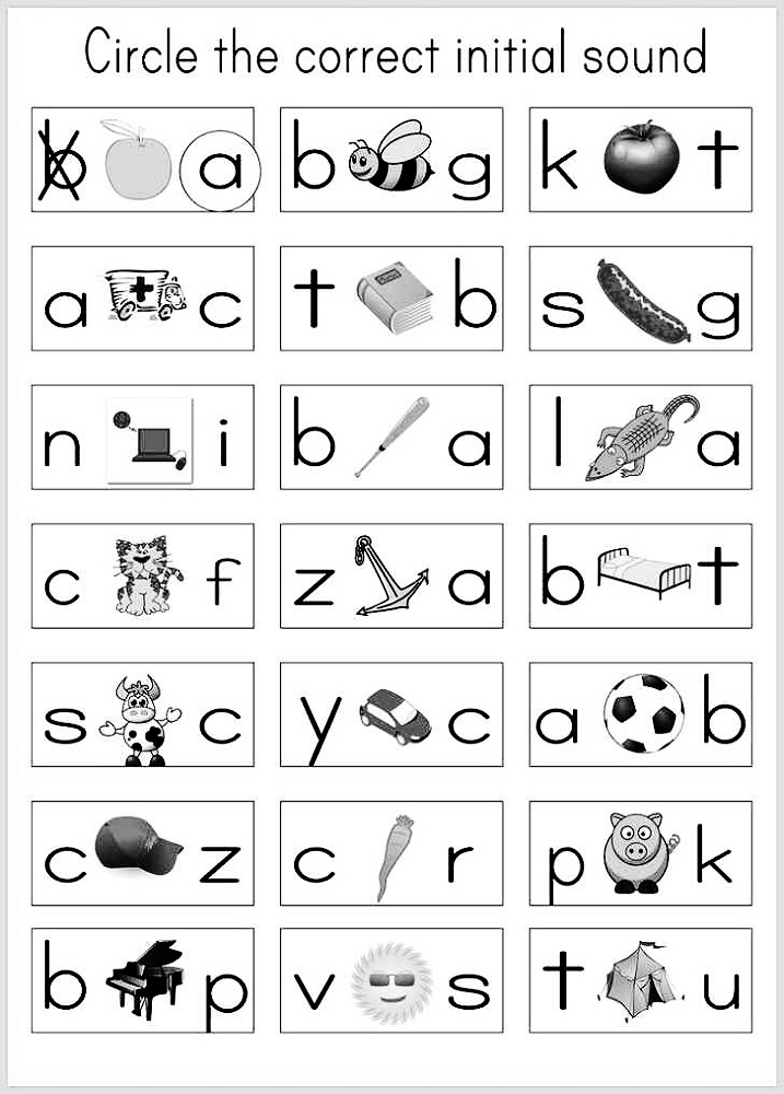Kindergarten Alphabet Worksheets – Kids Learning Activity