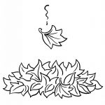 Leaf Coloring Page - Drawing