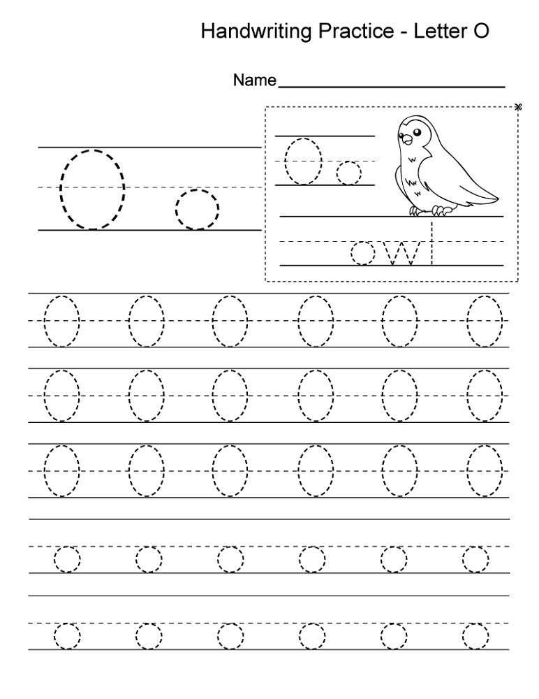 letter o worksheets for kids