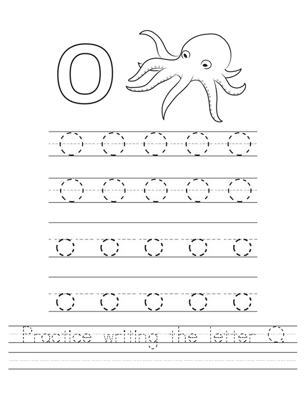 letter o worksheets for school