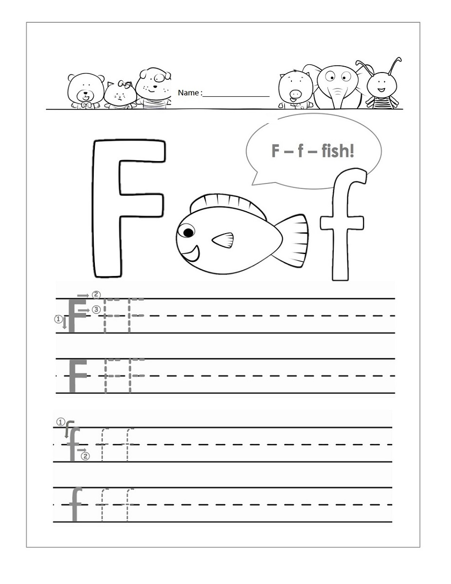 letter practice printable