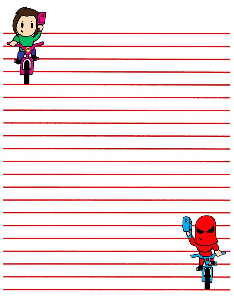 lined paper for kids cool