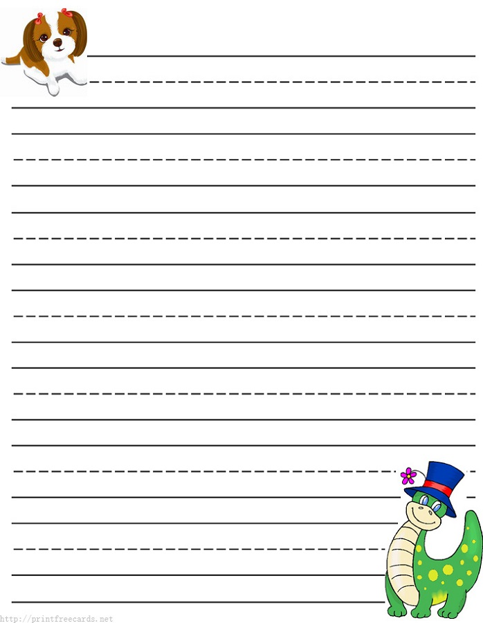 lined paper for kids school