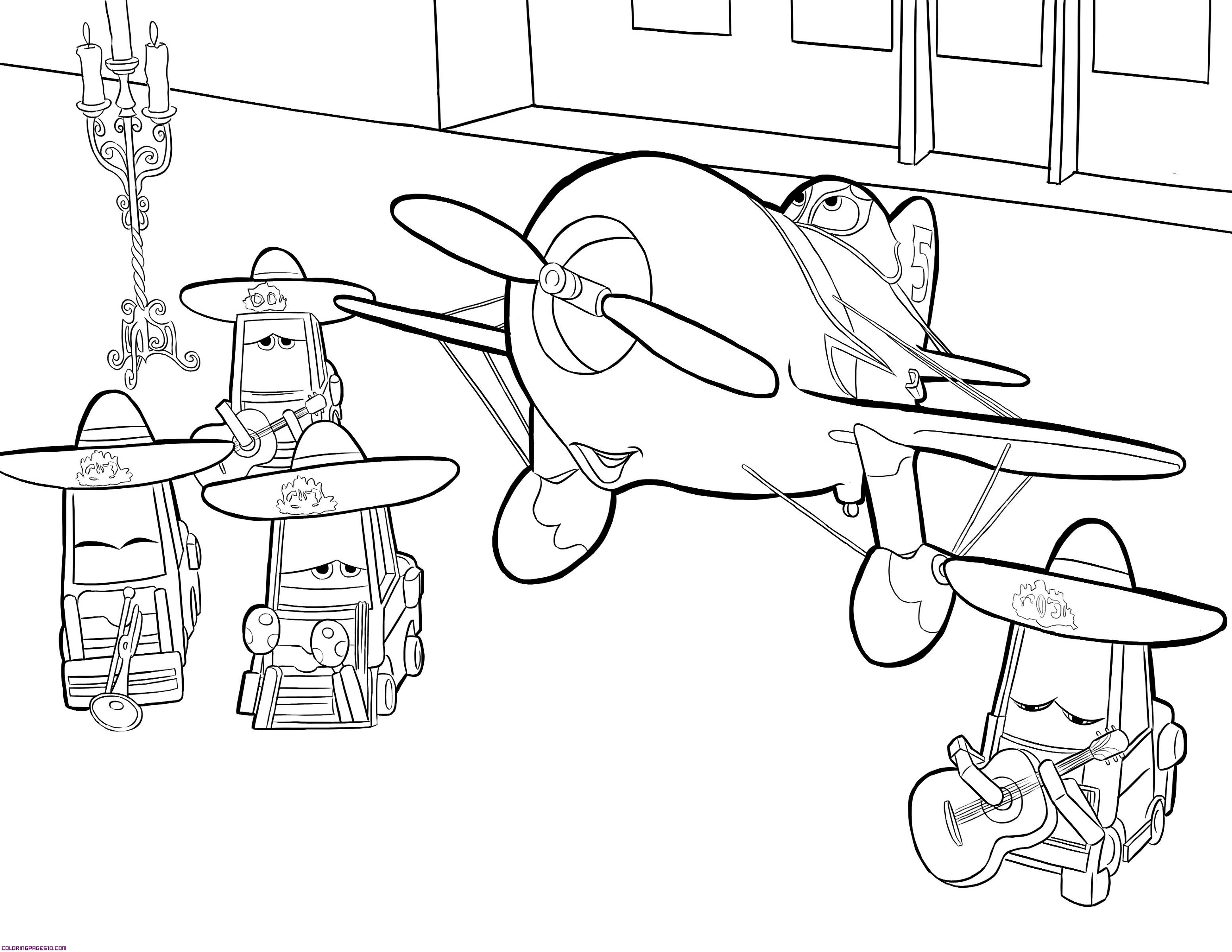 planes colouring pages free