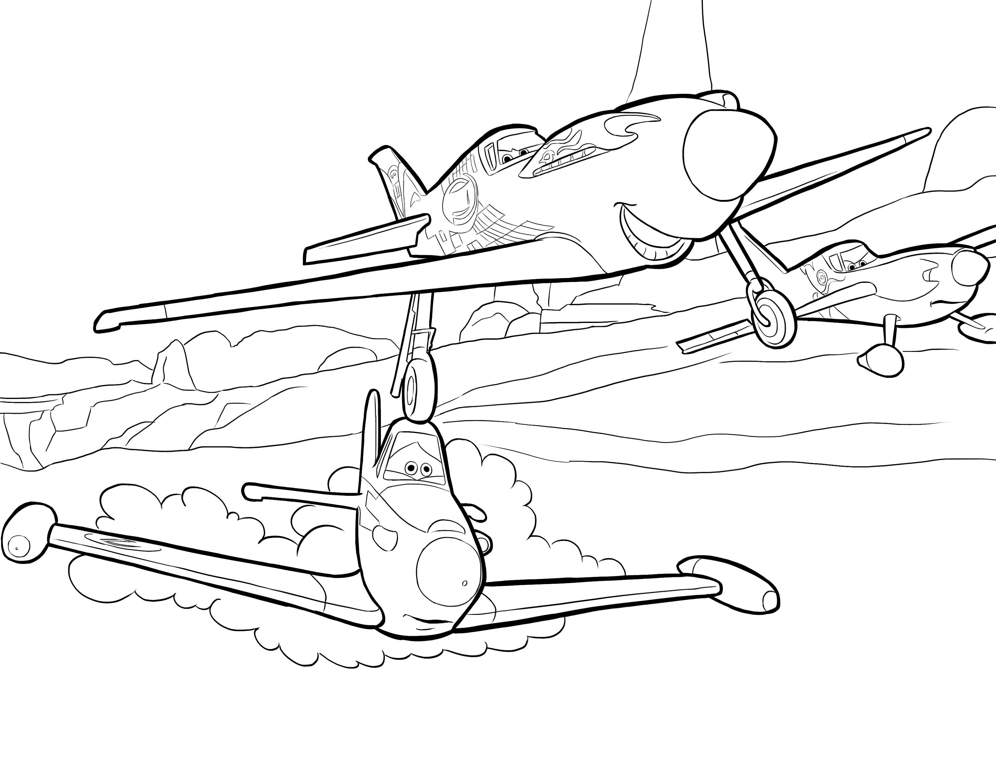planes colouring pages printable