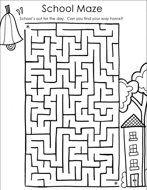 printable mazes for adults for school