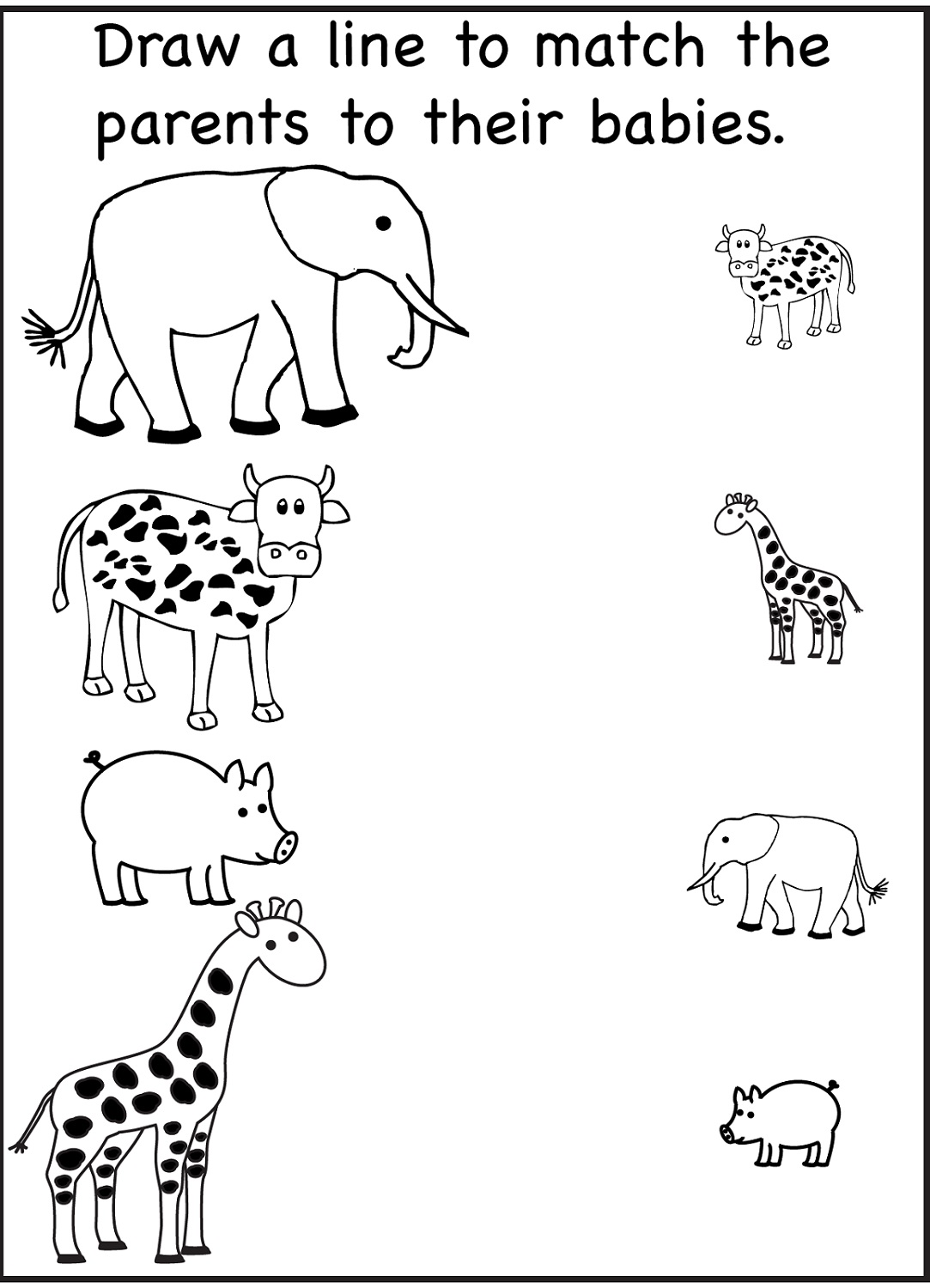 same or different worksheets for kindergarten