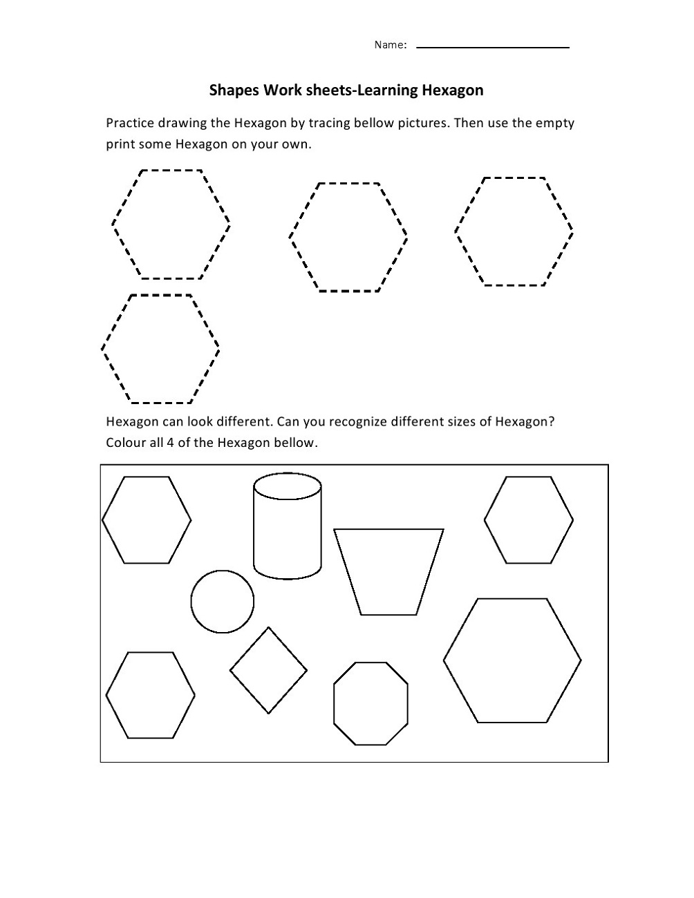 shapes and sides for preschool