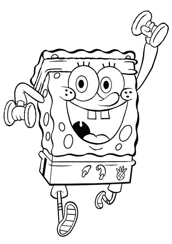 spongebob coloring pages for school