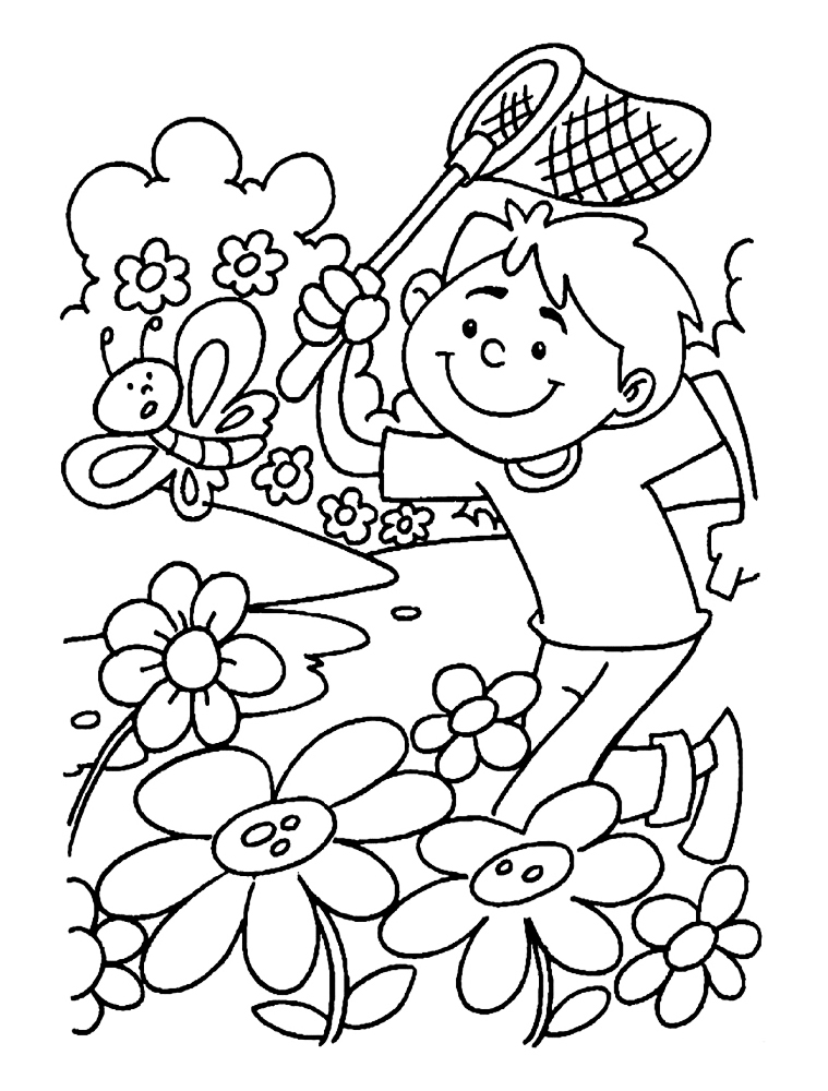 spring coloring pictures printable