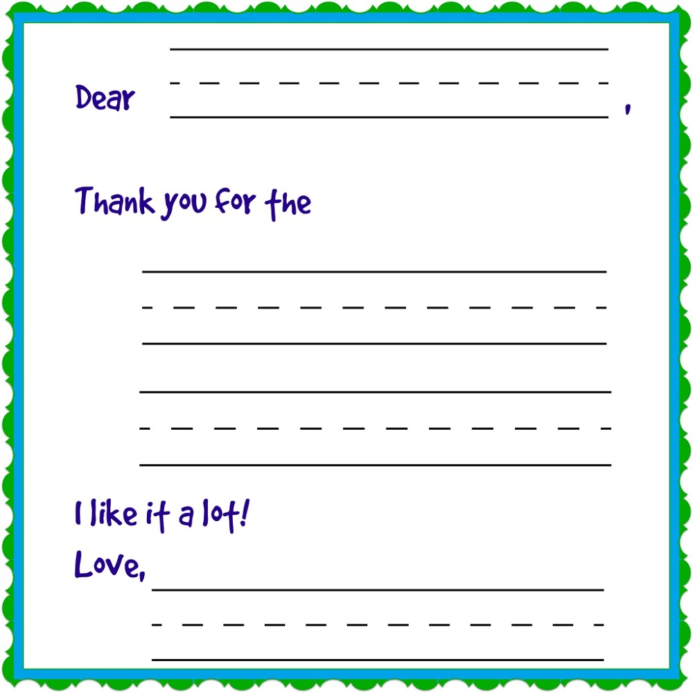 thank you note template printable