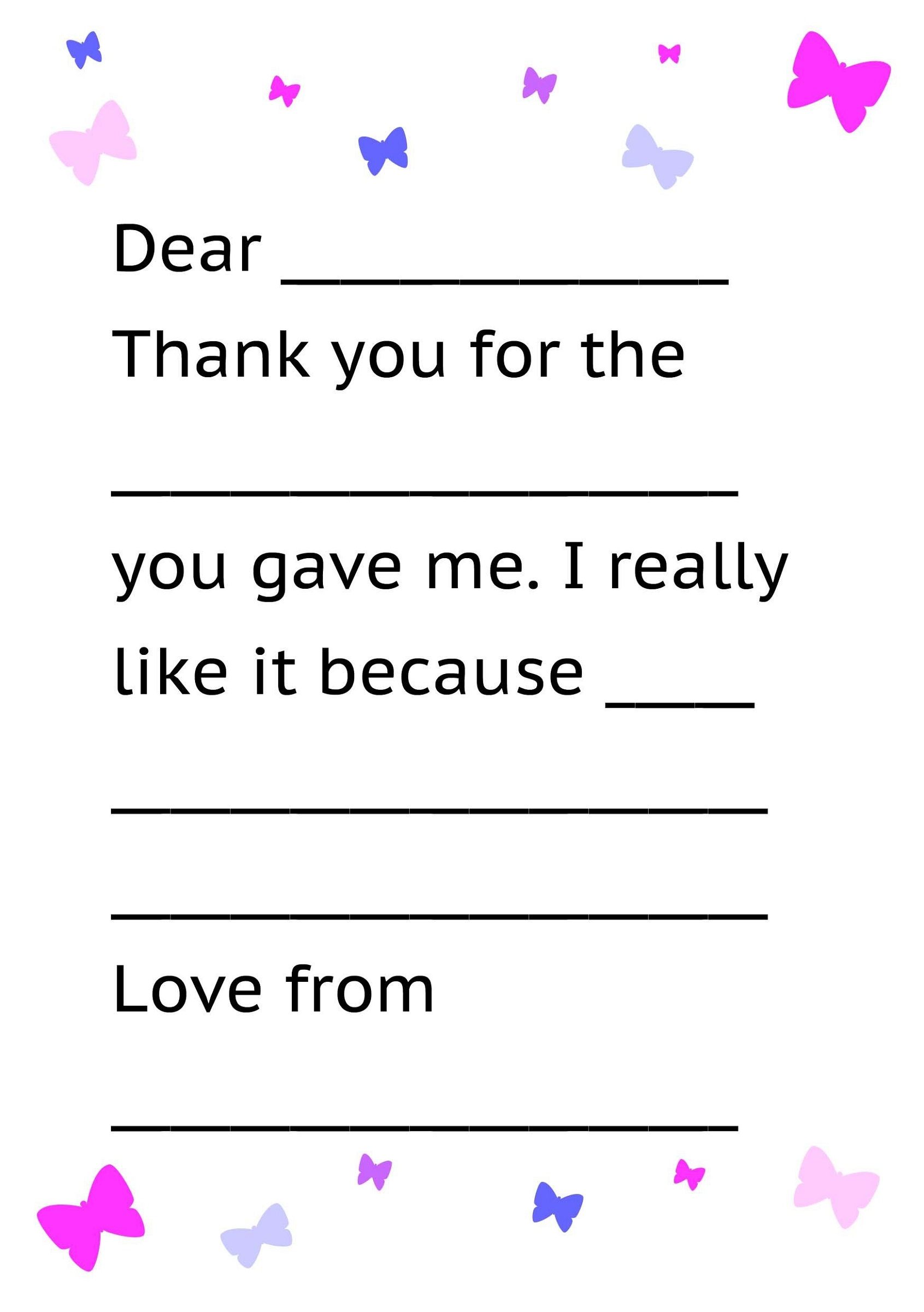 Thank You Note Templates - Greeting Card