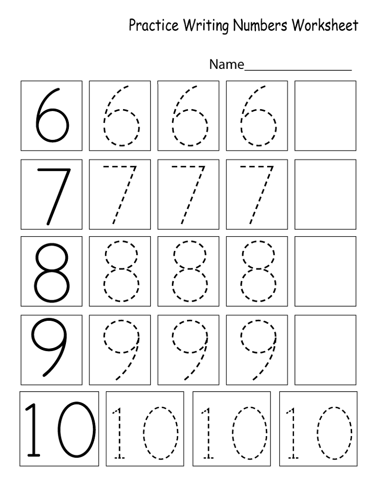writing numbers worksheet free