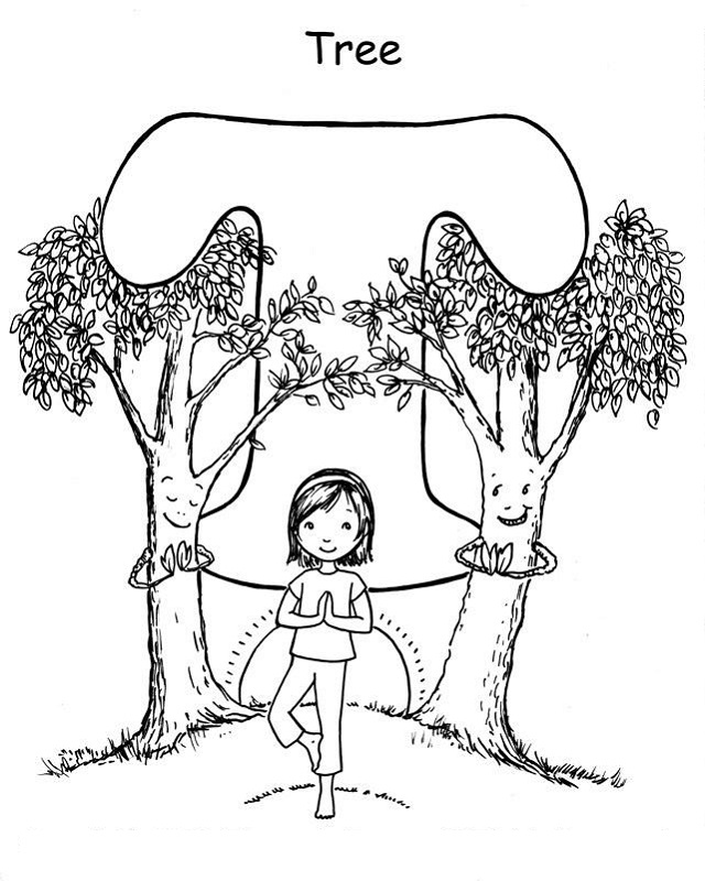 yoga coloring pages free download