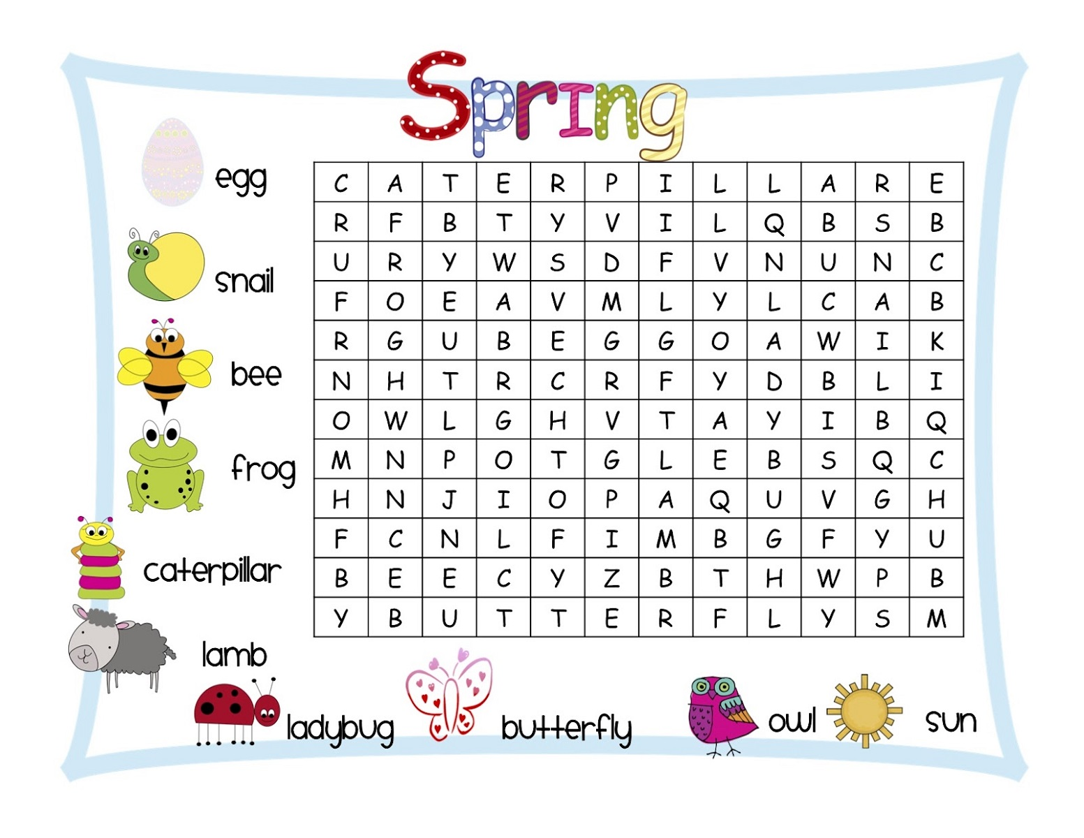 Puzzle words for kids