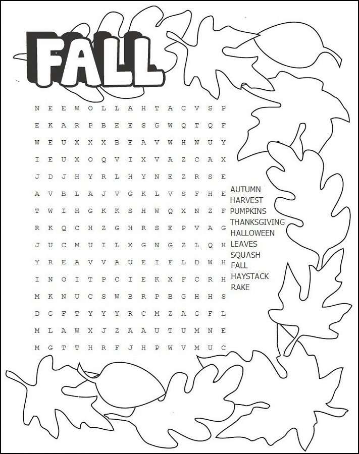 Puzzle words printable