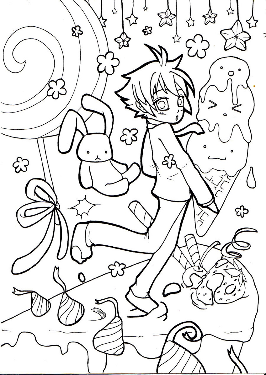 candyland coloring pages kids