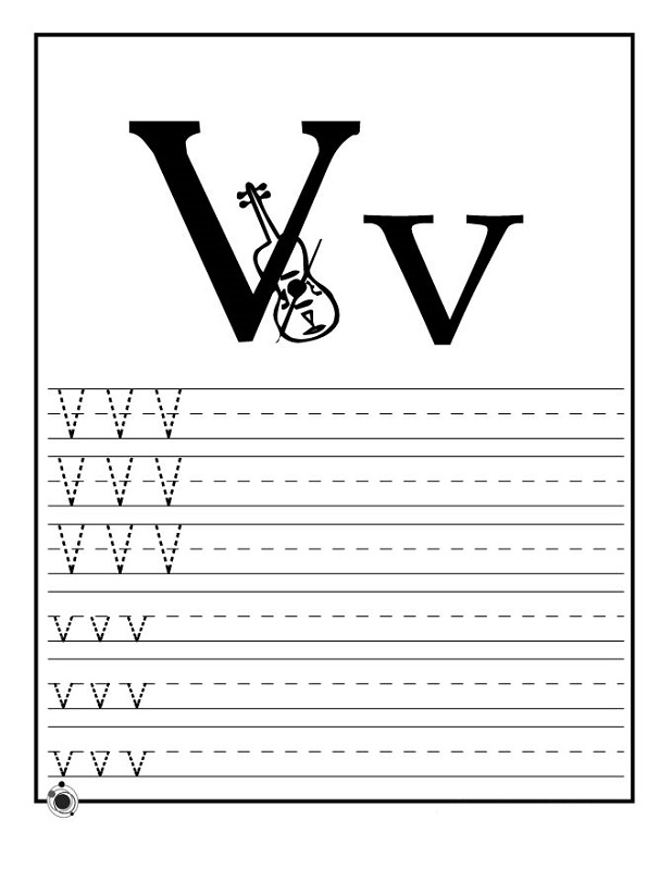 letter v worksheets for school