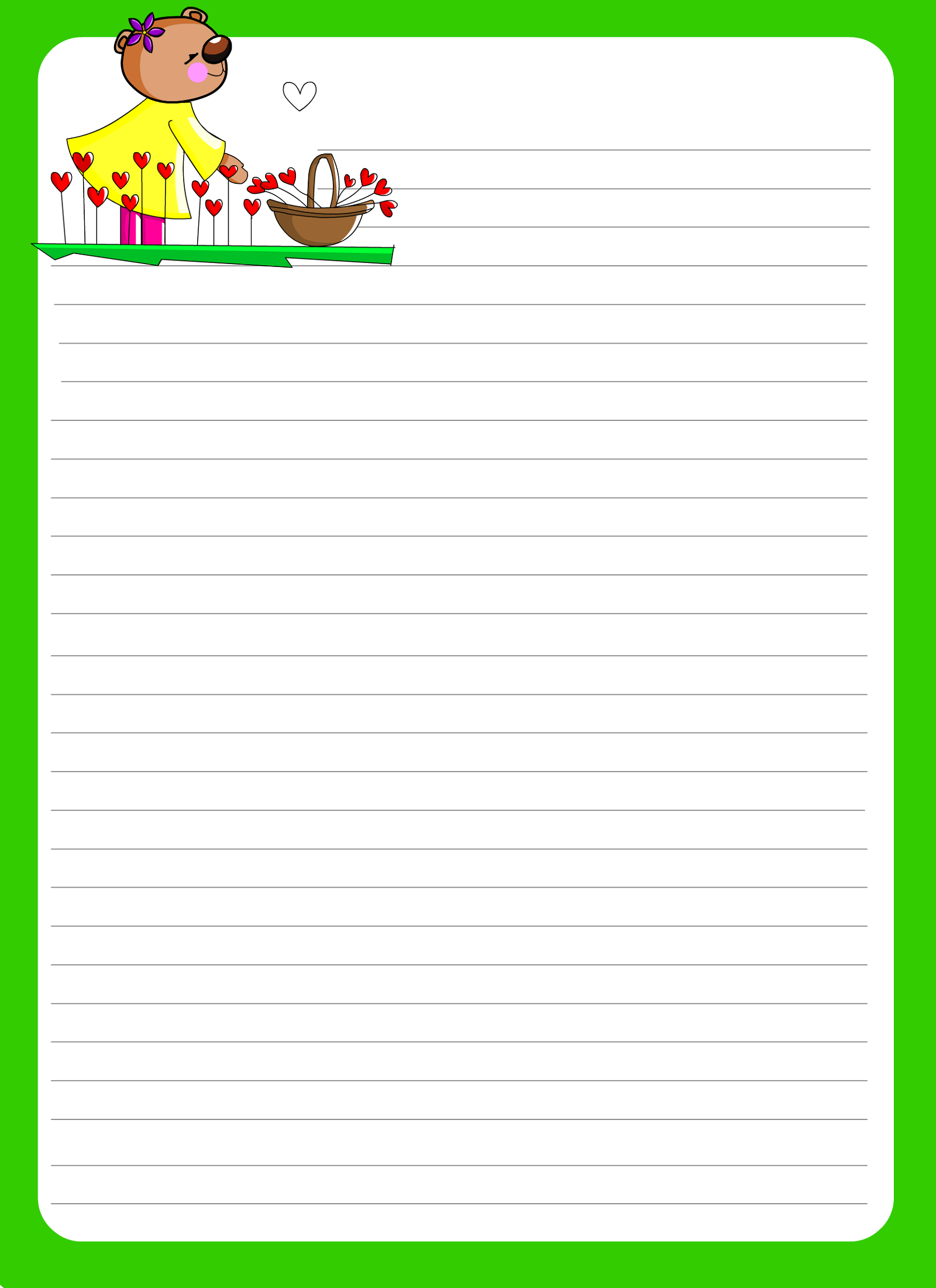 lined paper for writing for school