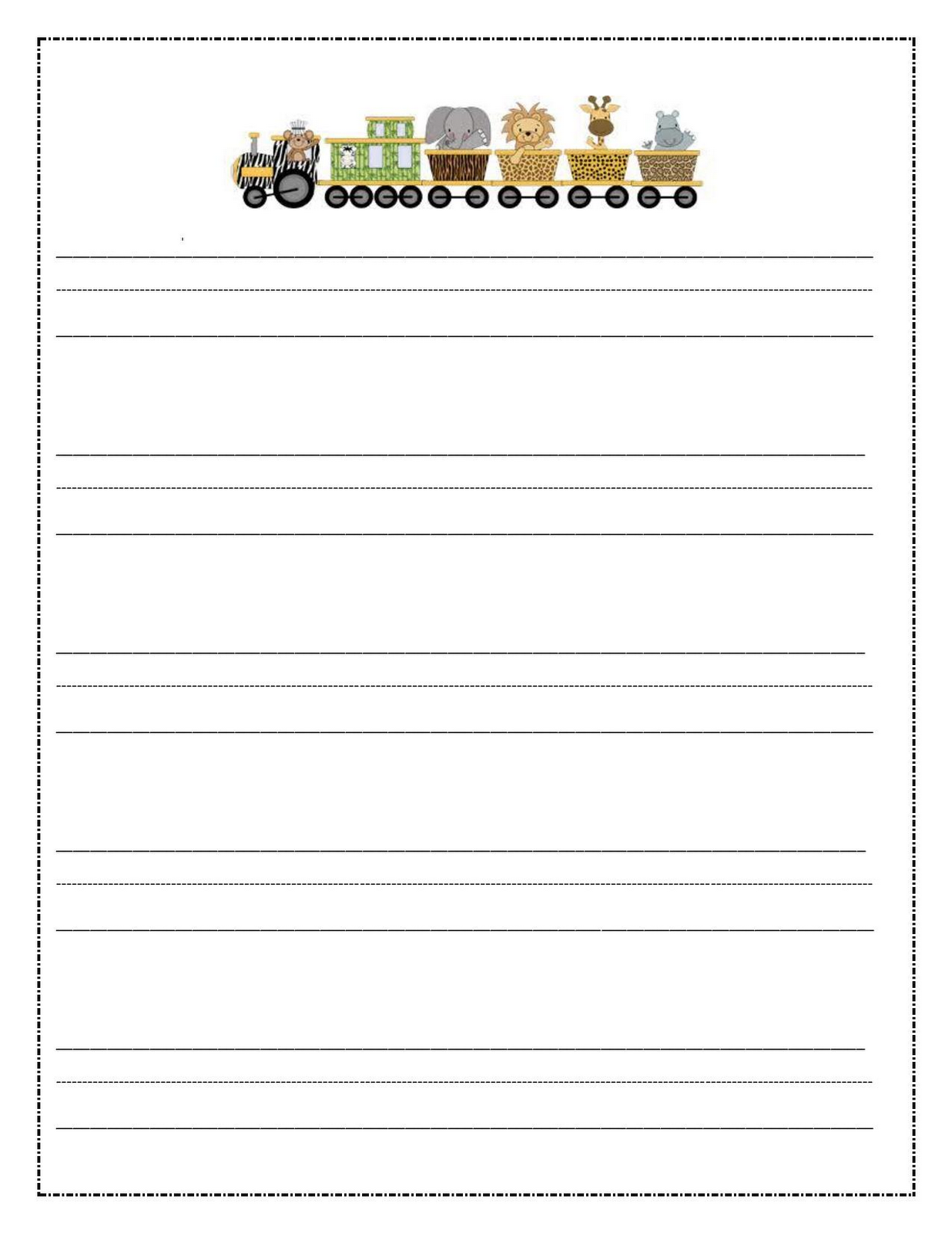 lined paper for writing free