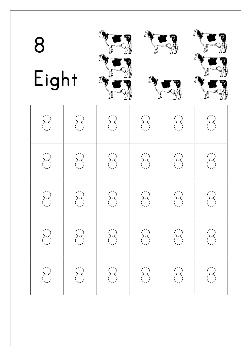 number 8 worksheets free download