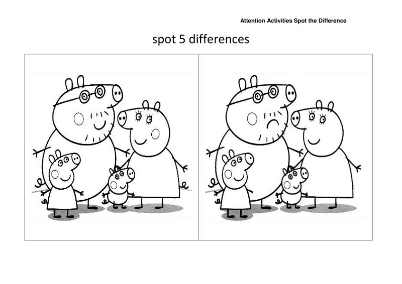 spot the difference worksheet kids
