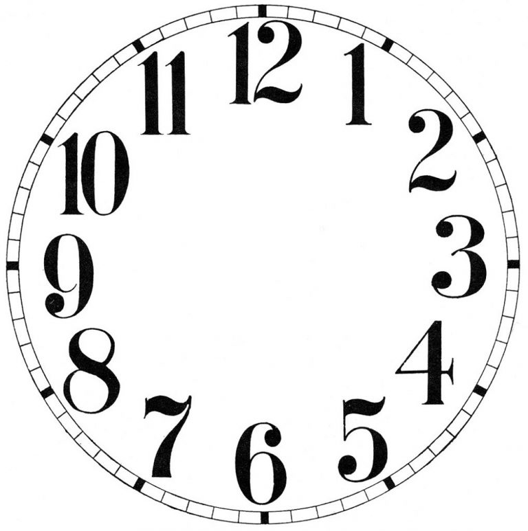 Clock Face Printable Free Kids Learning Activity