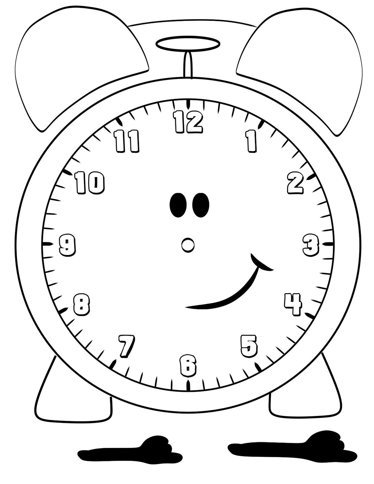 clock face printables