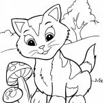 Coloring Pages Printable - Kitten