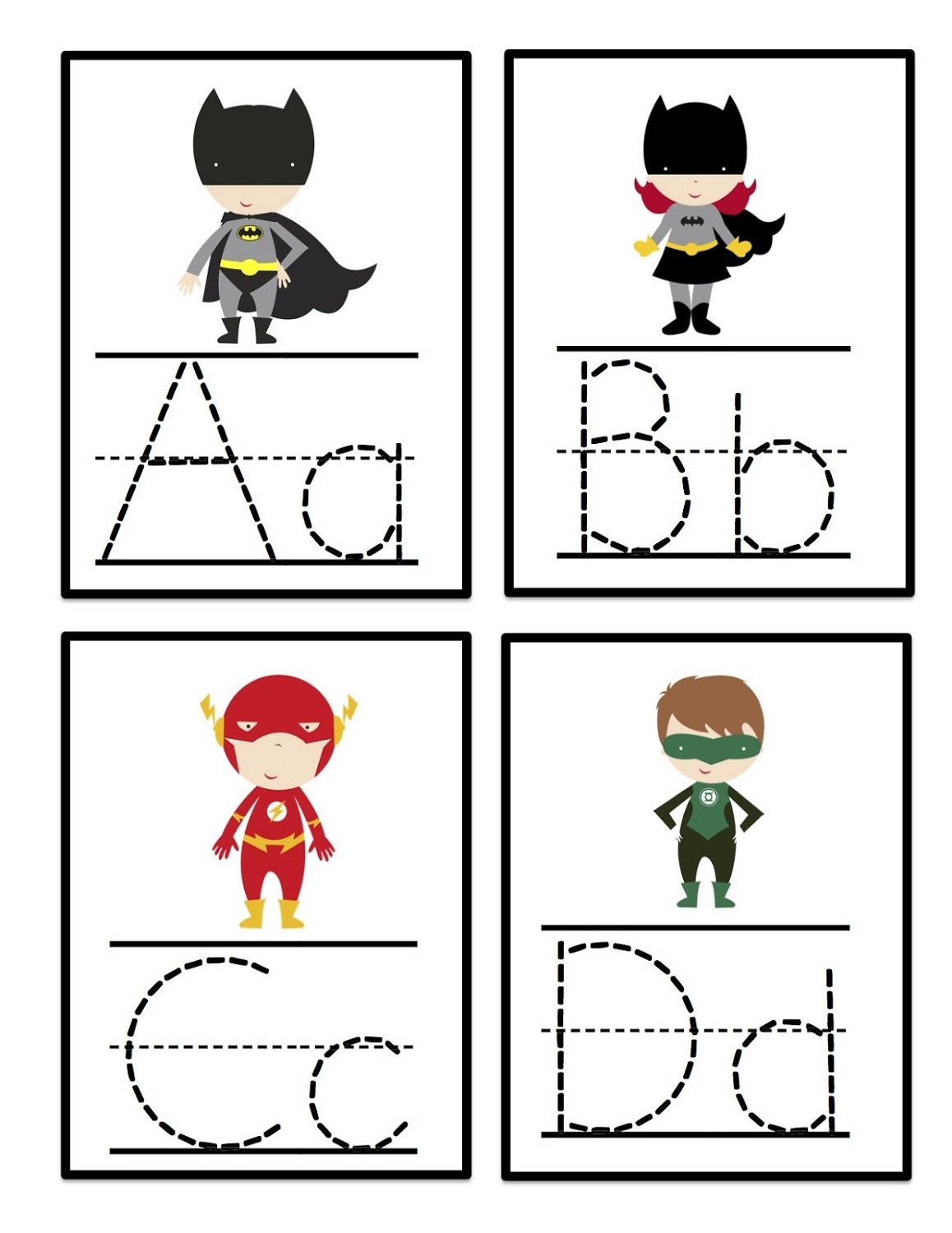 abc printables tracing