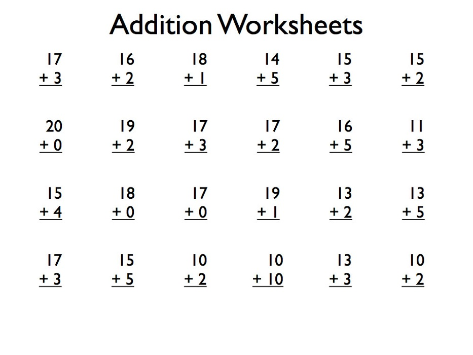 Addition Worksheets for Grade 1 | Kids Learning Activity