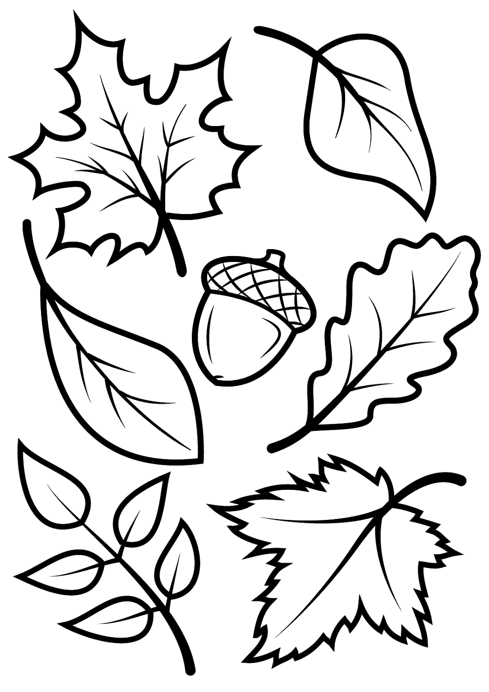 leaf coloring pictures